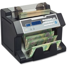 Royal Sovereign RBC3200CA Paper/Poly Electric Bill Counter - 300 Bill Capacity - Counts 1200 bills/min - Black
