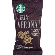 Starbucks Single Pot Caffe Verona Ground Coffee Portion Pack - Dark Cocoa - Dark/Bold - 2.5 oz Per Bag - 18 Packet - 18 / Box