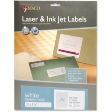 MACO Laser / Ink Jet File Folder Labels