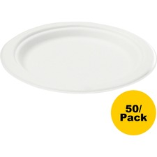 SVA P001 Savannah Supplies Bagasse Disposable Plates SVAP001