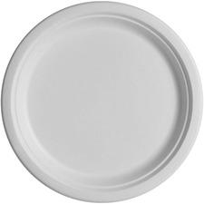 "SVA P005 Savannah Supplies Bagasse 10"" Round Paper Plates SVAP005"