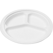 SVA P007 Savannah Supplies Bagasse Disposable Plates SVAP007