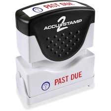 COS 035543 Cosco 2-color PAST DUE Message Stamp COS035543