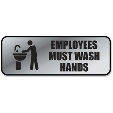 COS 098205 Cosco Employee Wash Hands Sign COS098205