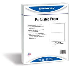PRB 04116 Paris Bus. Prod. 04116 Perforated Printer Paper PRB04116