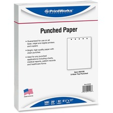 PRB 04108 Paris Bus. Prod. 5-hole Punched Printer Paper PRB04108