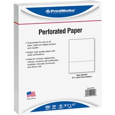 PRB 04124 Paris Bus. Prod. 04124 Perforated Printer Paper PRB04124