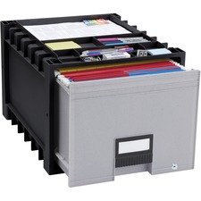 STX 61178U01C Storex Ind. Black/Gray Heavy-duty Archive Drawer STX61178U01C