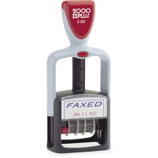 COS 011032 Cosco 2-color Self-inking Word Dater COS011032