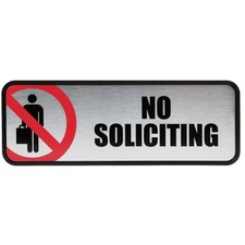 COS 098208 Cosco No Soliciting Image/Message Sign COS098208