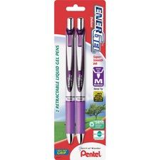 PEN BL77BP2V Pentel EnerGel Liquid Steel Tip Gel Pens PENBL77BP2V