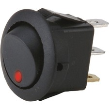 METRA Round Rocker Switch With Red Led No Leads