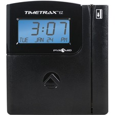 Pyramid Time Systems TimeTrax EZ EK Time and Attendance Clock - Magnetic Strip - 50 Employees - Digital