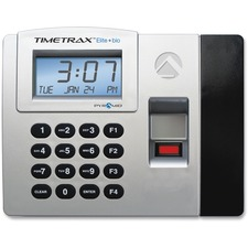 Pyramid Time Systems Elite Biometric Time/Attendance System - Biometric, Key Code - 50 Employees - Digital