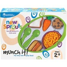 LRN LER7711 Learning Res. New Sprouts Munch It! Play Food Set LRNLER7711