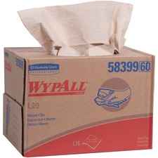 KCC 58399 Kimberly-Clark WypAll L20 Wipers Brag Box KCC58399