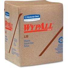 KCC 47000 Kimberly-Clark WypAll L20 Natural Kraft Wipers KCC47000