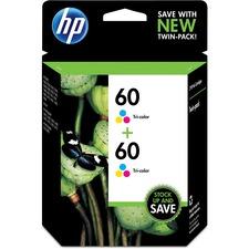 HP 60 Original Ink Cartridge - Inkjet - 165 Pages - Cyan, Magenta, Yellow - 2 / Pack