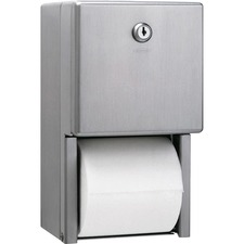 BOB 2888 Bobrick Washrm. 2-roll Bath Tissue Steel Dispenser BOB2888