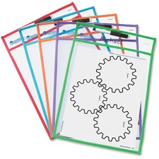 LRN LER0477 Learning Res. Write-and-wipe Pockets LRNLER0477