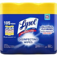 RAC 82159 Reckitt Benckiser Lysol Lemon Disinfect Wipes Pack RAC82159