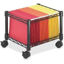 SAF 5220BL Safco Mini Mobile Wire File Cart SAF5220BL