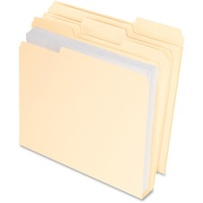 PFX 48436 Pendaflex Double Stuff Cutless Manila File Folders PFX48436