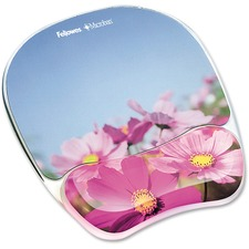 FEL 9179001 Fellowes Flowers Design Gel Mouse Pad Wrist Rest FEL9179001