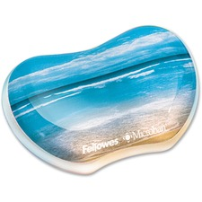 FEL 9179501 Fellowes Sandy Beach Image Gel Wrist Rest FEL9179501