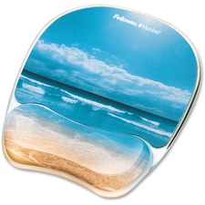 FEL 9179301 Fellowes Sand Beach Image Gel Mouse Pad Wrist Rest FEL9179301