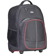 Tsb75001us Black Red Polyester Compact Roller Backpack 16in / Mfr. No.: Tsb75001us
