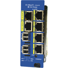 B&B IE-iMcV-E1-Mux/4+Ethernet, SFP (requires one or two SFP/155 Modules)