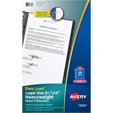 AVE 73897 Avery Legal Size Heavyweight Sheet Protectors AVE73897