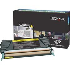 LEXC746A1YG - Lexmark Toner Cartridge