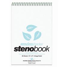 ROA 12284 Roaring Spring Enviroshades Gregg Ruled Steno Book ROA12284