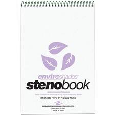 ROA 12264 Roaring Spring Enviroshades Gregg Ruled Steno Book ROA12264