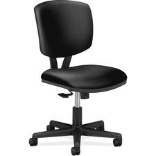 HON Volt Task Chair, SofThread Leather - Black SofThread Leather Seat - Black Frame - 5-star Base - Black - 1 Each