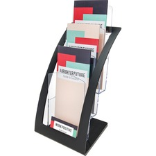 DEF 693604 Deflecto 3-tier Black Literature Holder DEF693604