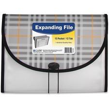 CLI 58312 C-Line 13-pocket Letter Size Plaid Expanding File CLI58312