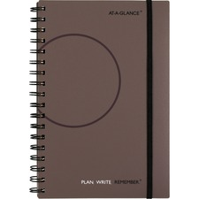 AAG70621030 - At-A-Glance Planning Notebook Lined with Monthly Calendars