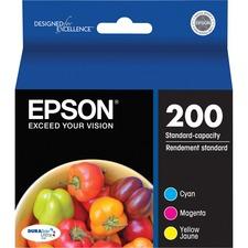 Epson DURABrite Ultra 200 Original Ink Cartridge - Inkjet - Cyan, Magenta, Yellow - 1 Each