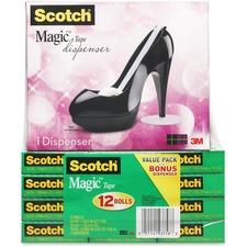 MMM 810K12C30B 3M Scotch Black Stiletto Shoe Tape Dispenser Pack MMM810K12C30B