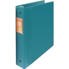 "Wilson Jones ENVI Heavy-duty Round Ring Binder - 1 1/2"" Binder Capacity - Letter - 8 1/2"" x 11"" Sheet Size - 280 Sheet Capacity - 3 x Round Ring Fastener(s) - Internal Pocket(s) - Suede Vinyl, Polypropylene, Chipboard - Green - Heavy Duty, Gap-free Ring, Open and Closed Triggers, Label Holder, Flat, PVC-free, Latex-free - 1 Each"
