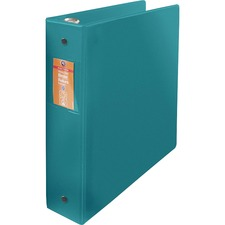 """Wilson Jones ENVI Heavy-duty Round Ring Binder - 2"""" Binder Capacity - Letter - 8 1/2"""" x 11"""" Sheet Size - 375 Sheet Capacity - 3 x Round Ring Fastener(s) - 2 Internal Pocket(s) - Suede Vinyl, Polypropylene, Chipboard - Green - Heavy Duty, Gap-free Ring, PVC-free, Open and Closed Triggers, Label Holder, Flat, Durable, Latex-free - 1 Each"""