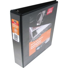 """Wilson Jones ENVI Heavy-duty Customizer D-ring View Binder - 3"""" Binder Capacity - D-Ring Fastener(s) - Front & Back Pocket(s) - Polypropylene, Chipboard - Black - Spine Label, Smudge Resistant, Non-glare, Gap-free Ring, PVC-free, Heavy Duty, Non-stick, Durable - 1 Each"""