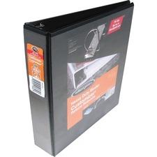 "Wilson Jones ENVI Heavy-duty Customizer D-ring View Binder - 3"" Binder Capacity - D-Ring Fastener(s) - Front & Back Pocket(s) - Polypropylene, Chipboard - Black - 1 Each"