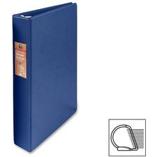 "Wilson Jones Heavy-duty D-ring Binder - 1"" Binder Capacity - Letter - 8 1/2"" x 11"" Sheet Size - 3 x D-Ring Fastener(s) - Internal Pocket(s) - Chipboard, Polypropylene - Blue - Heavy Duty, Spine Label, Sheet Lifter, PVC-free, Non-stick - 1 Each"