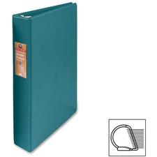 "Wilson Jones Heavy-duty D-ring Binder - 1"" Binder Capacity - Letter - 8 1/2"" x 11"" Sheet Size - 3 x D-Ring Fastener(s) - Internal Pocket(s) - Chipboard, Polypropylene - Green - Heavy Duty, Spine Label, Sheet Lifter, PVC-free, Non-stick - 1 Each"