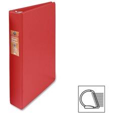 "Wilson Jones Heavy-duty D-ring Binder - 1"" Binder Capacity - Letter - 8 1/2"" x 11"" Sheet Size - 3 x D-Ring Fastener(s) - Internal Pocket(s) - Chipboard, Polypropylene - Red - Heavy Duty, Spine Label, Sheet Lifter, PVC-free, Non-stick - 1 Each"