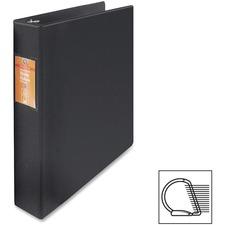 "Wilson Jones Heavy-duty D-ring Binder - 1 1/2"" Binder Capacity - Letter - 8 1/2"" x 11"" Sheet Size - 3 x D-Ring Fastener(s) - Internal Pocket(s) - Chipboard, Polypropylene - Black - Heavy Duty, Spine Label, Sheet Lifter, PVC-free, Non-stick - 1 Each"